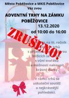 ZRUŠENÍ Adventních trhů 13.12.2020 1